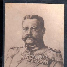 Postales: TARJETA POSTAL DEL GENERAL HINDENBURG (ALEMANIA). Lote 28561305