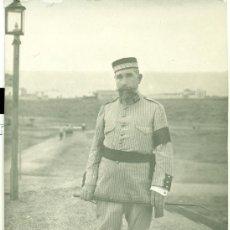 Postales: MELILLA. GENERAL D. JUAN LÓPEZ HERRERO. AÑO 1912. DEDICADA AL DORSO.. Lote 28710492