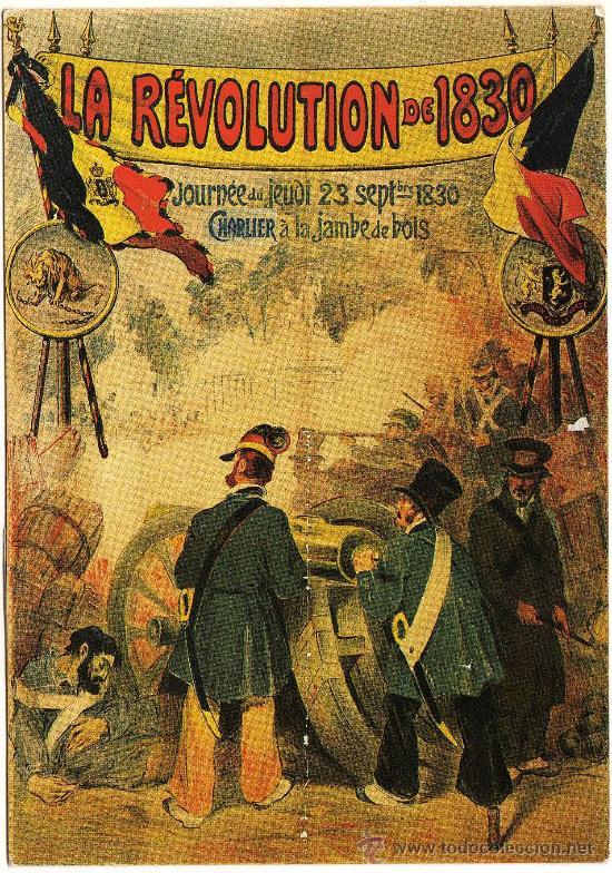 BONITA POSTAL (REPRODUCCION) - LA REVOLUCION DE 1830 (POSTAL MODERNA) (Postales - Postales Temáticas - Militares)