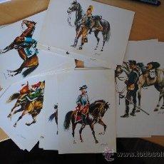 Postales: LOTE DE 23 POSTALES DE CABALLERIA. REALIZADAS POR EL COMANDANTE RICARDO SANFELIZ PERMANYER. AÑO 1969. Lote 29184563