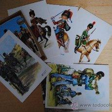 Postales: COLECCION DE 7 POSTALES DE UNIFORMES EUROPEOS. ALGUNAS ESCRITAS POR DETRÁS. Lote 29277703