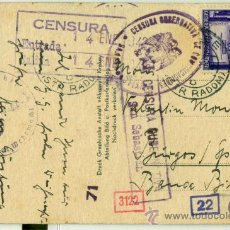 Postales: DIVISION AZUL ESPAÑOLA. II GUERRA MUNDIAL. CIRCULADA EN 1942.. Lote 29788135