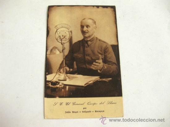 POSTAL DEL GENERAL QUEIPO DE LLANO - JALON ANGEL ZARAGOZA - GRAFICAS TOLOSA (Postales - Postales Temáticas - Militares)