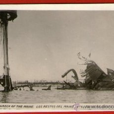 Postales: EL BUQUE NORTEAMERICANO USS MAINE HUNDIDO EN EL PUERTO DE LA HABANA - DE PRINCIPOS DE SIGLO XX.. Lote 31055550