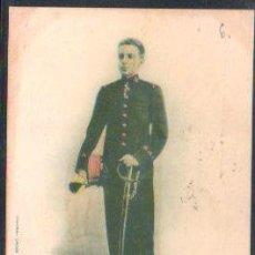 Postales: TARJETA POSTAL DE S.M DON ALFONSO XIII. REY DE ESPAÑA. 415. HAUSER Y MENET. SELLO DE EL PELON. Lote 31952102