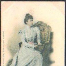 Postales: TARJETA POSTAL DE S.A DOÑA MARIA CRISTINA. 416. HAUSER Y MENET. SELLO DE EL PELON. Lote 31952183