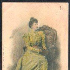 Postales: TARJETA POSTAL DE S.A DOÑA MARIA CRISTINA. 416. HAUSER Y MENET. SELLO DE EL PELON. Lote 31952198