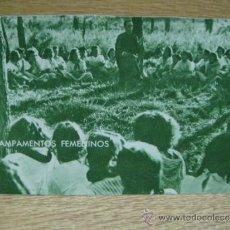 Postales: CAMPAMENTOS FEMENINOS - FRENTE DE JUVENTUDES CAMPAMENTO DE ALCOVER (TARRAGONA ) POSTAL ESCRITA. Lote 32285195