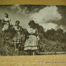 Postales: CAMPAMENTOS FEMENINOS - FRENTE DE JUVENTUDES CAMPAMENTO DE ALCOVER (TARRAGONA ) POSTAL ESCRITA. Lote 32285207