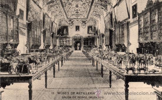 MUSEO DE ARTILLERIA, SALÓN DE REINOS (MODELOS), FOTOT. HAUSER Y MENET, NO CIRCULADA (Postales - Postales Temáticas - Militares)