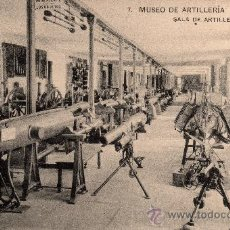 Postales: MUSEO DE ARTILLERIA, SALA DE ARTILLERIA, FOTOT. HAUSER Y MENET, NO CIRCULADA. Lote 32380386