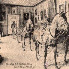 Postales: MUSEO DE ARTILLERIA, SALA DE ALFONSO XII, FOTOT. HAUSER Y MENET, NO CIRCULADA. Lote 32380403