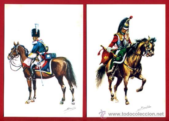 Postales: LOTE SERIE DE 18 POSTALES MILITARES ILUSTRADAS 1969 , ORIGINALES, VER FOTOS ADICIONALES - Foto 3 - 32501221