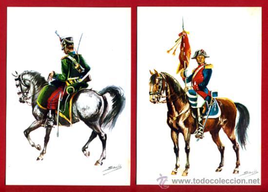 Postales: LOTE SERIE DE 18 POSTALES MILITARES ILUSTRADAS 1969 , ORIGINALES, VER FOTOS ADICIONALES - Foto 7 - 32501221