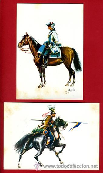 Postales: LOTE SERIE DE 18 POSTALES MILITARES ILUSTRADAS 1969 , ORIGINALES, VER FOTOS ADICIONALES - Foto 9 - 32501221