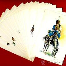 Postales: LOTE SERIE DE 18 POSTALES MILITARES ILUSTRADAS 1969 , ORIGINALES, VER FOTOS ADICIONALES. Lote 32501221