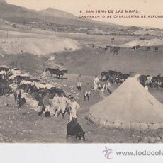 Cartoline: POSTAL - 16 SAN JUAN DE LAS MINAS CAMPAMENTO DE CABALLERIAS DE ALFONSO XII. Lote 32643578