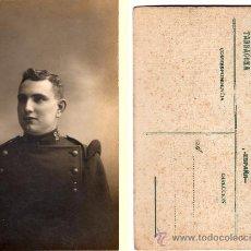 Postales: TARJETA POSTAL CARTÓN DURO, SOLDADO REGIMIENTO Nº 28 DE TARRAGONA, FOT. F. BAIXET, TARRAGONA. Lote 33053836