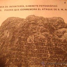 Postales: EXCELENTE TARJETA POSTAL MILITAR, ACADEMIA INFANTERIA GABINETE FOTOGRAFICO, PIEDRA,Nº 8, AÑO 1909. Lote 33259772
