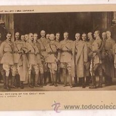 Postales: POST CARD SOME GENERAL OFFICERS OF THE GREAT WAR NATIONAL PORTRAIT GALLERY 1954. Lote 33368597