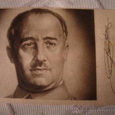 Postales: TARJETA POSTAL FOTOGRAFIA ORIGINAL MILITAR ESPAÑA FRANCO AUTOGRAFIADA, 2 SELLOS Y MATASELLO AÑO 1941. Lote 33631698