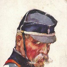 Postales: OFICIAL FRANCÉS, DIBUJO DE DUPUIS (AÑO 1914), ESCRITA POR UN SOLDADO FRANCÉS DEL EJERCITO COLONIAL. Lote 33632385