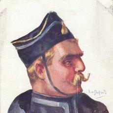Postales: LANCERO BELGA, DIBUJO DE DUPUIS, ESCRITA EN 1916 . Lote 33632472