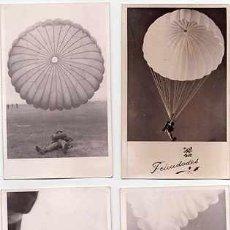Postales: BRIGADA PARACAIDISTA ESPAÑOLA, 4 FOTO-POSTALES, ORIGINALES AÑOS 60,SALTOS. Lote 33670426