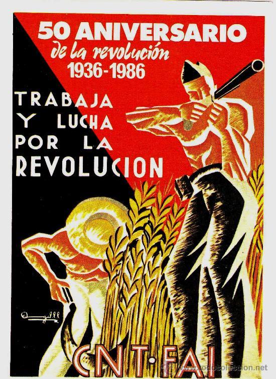 GUERRA CIVIL ESPAÑOLA,CNT-FAI 25 POSTALES 50 ANIV.REVOLUCION 1936-1986,REPUBLICA,EJERCITO POPULAR. (Postales - Postales Temáticas - Militares)