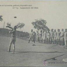Postales: POSTAL MILITAR ACADEMIA DE INFANTERÍA.LANZAMIENTO DE DISCO.1912.. Lote 34022031