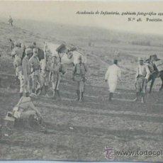 Postales: POSTAL MILITAR ACADEMIA DE INFANTERÍA.POSICIÓN OCUPADA.1912.. Lote 34023699