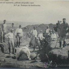 Postales: POSTAL MILITAR ACADEMIA DE INFANTERÍA.TRABAJOS DE FORTIFICACIÓN.1912. Lote 34024049