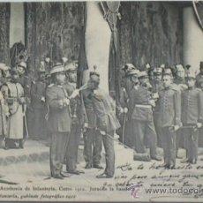 Postales: POSTAL MILITAR ACADEMIA DE INFANTERÍA.CURSO 1912 JURA DE BANDERA.TOLEDO. Lote 34025742