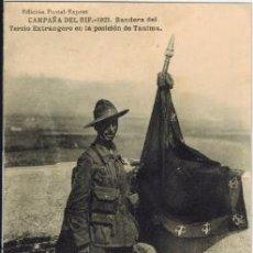 Postales: CAMPAÑA DEL RIF 1921. BANDERA DEL TERCIO EXTRANJERO… . Lote 33986203