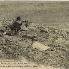 Postales: CAMPAÑA DEL RIF 1921. UN TIRADOR DE REGULARES INDÍGENAS.... Lote 33986225