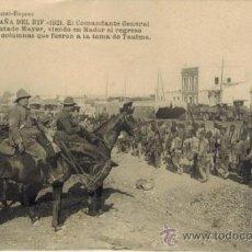 Postales: CAMPAÑA DEL RIF. 1921. EL COMANDANTE GENERAL Y SU ESTADO MAYOR.... Lote 33986303