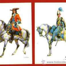 Postales: LOTE 2 POSTALES DEDICADAS A LA CABALLERÍA ESPAÑOLA: MOSQUETERO Y HÚSAR - BIEN CONSERVADAS Y SIN USAR. Lote 34042272