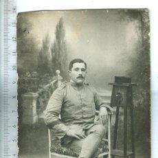 Cartes Postales: POSTAL FOTOGRAFICA MILITAR REGIMIENTO 59 ALFONSO XIII. ADJUNTO FOTOS. Lote 34163982