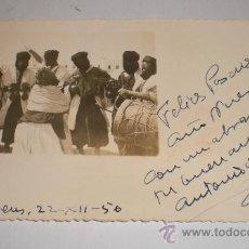 Cartoline: POSTAL DE FELICITACION, VILLA BEN - SAHARA ESPAÑOL, 1950. Lote 34469077