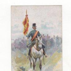 Postales: POSTAL ILUSTRADA TEMA MILITAR. DIBUJO DE J. CUSACHS. ED. THOMAS. BARCELONA.. Lote 34469513