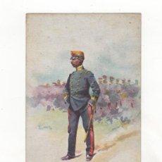 Postales: POSTAL ILUSTRADA TEMA MILITAR. DIBUJO DE J. CUSACHS. ED. THOMAS. BARCELONA.. Lote 34469530