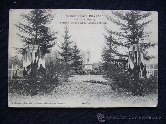 POSTAL MILITAR. GUERRA 1914-1915. REVIGNY. ENTRADA AL CEMENTERIO MILITAR. (Postales - Postales Temáticas - Militares)