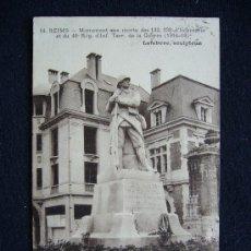 Postales: POSTAL MILITAR. REIMS. MONUMENTO A LOS MUERTOS. GUERRA 1914-1918.. Lote 34623249