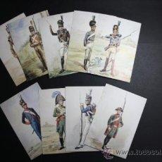 Postales: LOTE DE 9 POSTALES UNIFORMES MILITARES PORTUGUESES - TODAS DIFERENTES - REF171. Lote 35258569