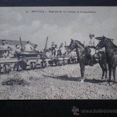 Postales: POSTAL AÑO 1909 MELILLA REGRESO DE UN CONVOY AL CAMPAMENTO. Lote 35592145