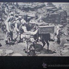 Postales: POSTAL AÑO 1909 MELILLA LLEGADA DE UN CONVOY AL CAMPAMENTO DE SIDI MUZA. Lote 35592195