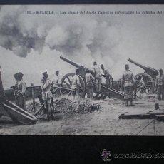 Postales: POSTAL AÑO 1909 MELILLA LOS OBUSES DE FUERTE CAMELLOS. Lote 35592224