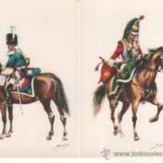 Postales: COLECCIÓN DE 17 POSTALES AUTORIZADAS POR EL ESTADO MAYOR DEL EJÉRCITO EN 1969. Lote 35776859