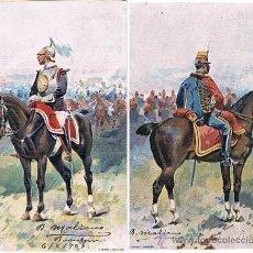 Postales: ILUSTRACIONES DE J. CUSACH - CABALLERIA 1903. Lote 35974485