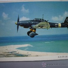 Postales: POSTAL ALEMANA JU-87 STUKA FRENTE DEL MEDITERRANEO. Lote 36146653